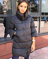 Женское стильное зимнее пальто с рукавами 3/4, фото 1