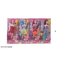 Кукла мультгерой YF11002  4 вида,   ноги шарнир,   расчёска,   в коробке   14*4,  5*33 см.