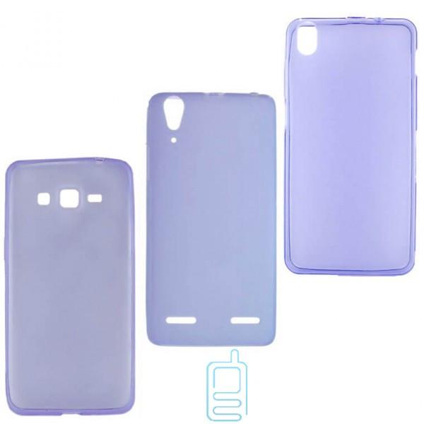 Чехол силиконовый цветной Meizu MX4 фиолетовый