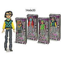 Кукла  Monster High  2075  4 вида,   мальчики,   на шарнирах  в  коробке 14*6*33  см.