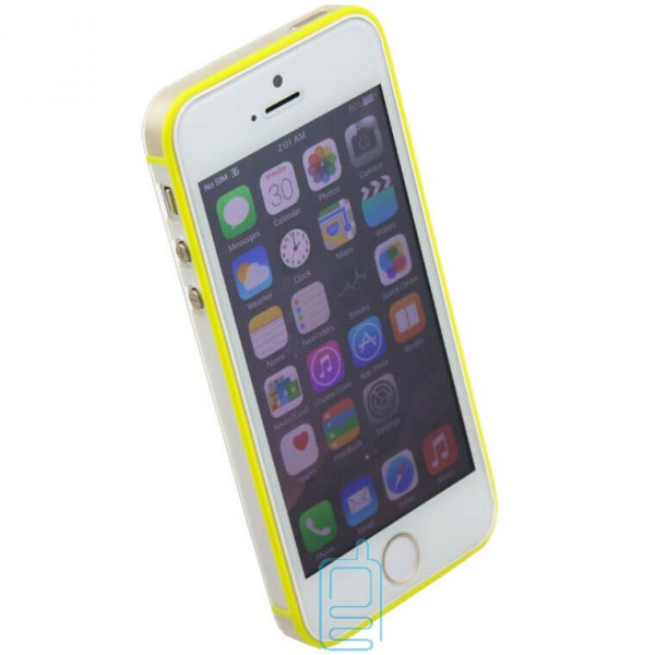 Чехол-бампер Apple iPhone 5 Vser желтый