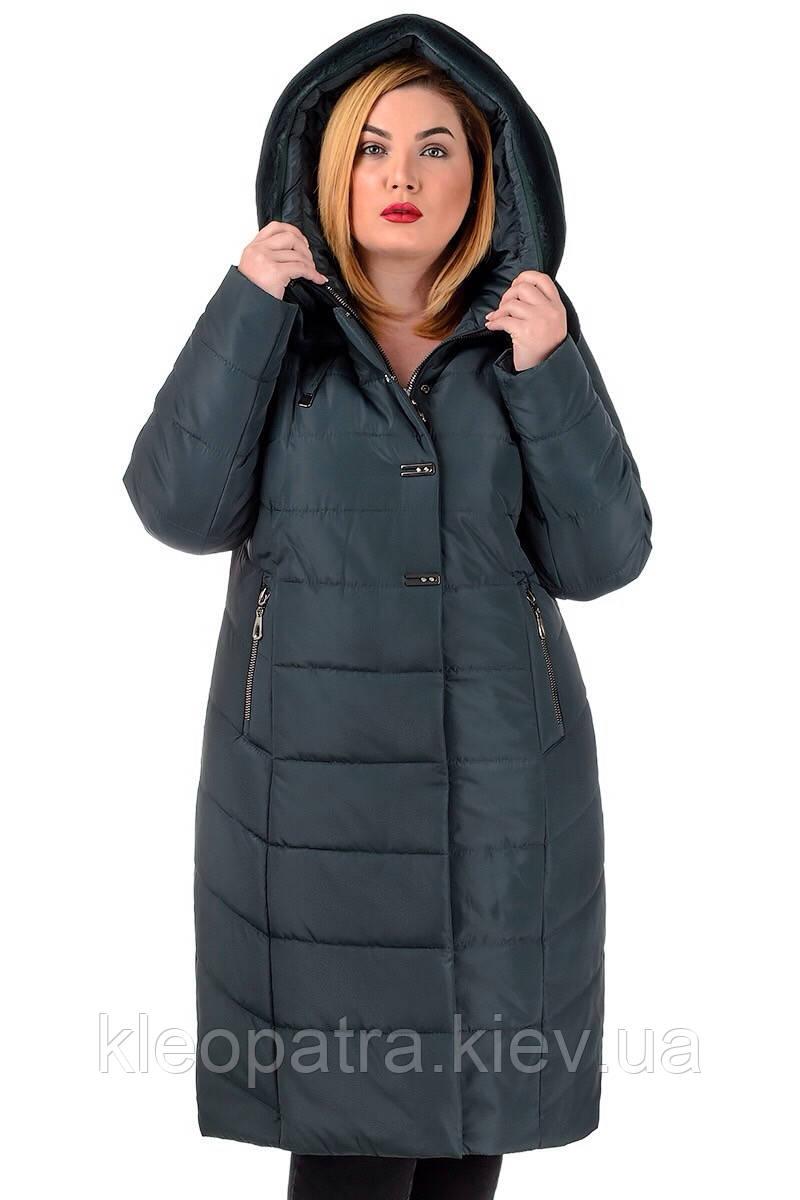 Зимнее батальное пальто женское Галина