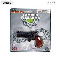 Пистолет  2088BC (384шт/8) пласт.корпус, р-р пистолета 8,5*6см, на планшетке 12,5*15см