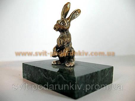 Статуэтка бронзовый Заяц, оригинальный сувенир, фото 2