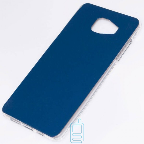 Чехол силикон-кожа Samsung A5 2016 A510 синий