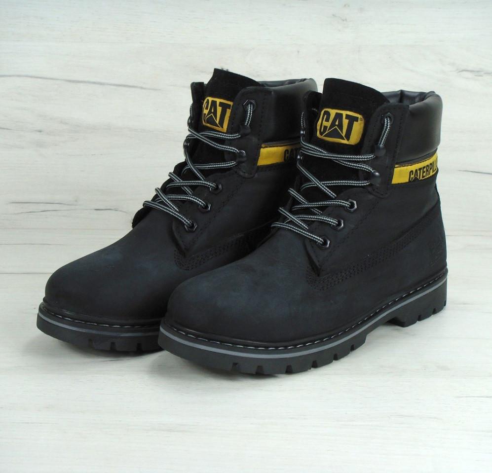 Ботинки в стиле Caterpillar Colorado Fur Black зимние мужские - Интернет-магазин  «Reverie Shoes 563cde9dc1c