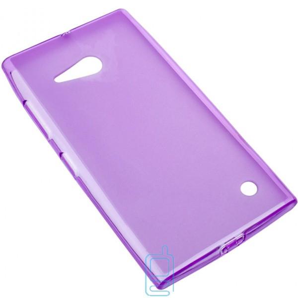 Чехол силиконовый цветной Nokia Lumia 730 фиолетовый