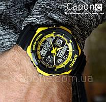 Фото! Skmei 0931 New Yellow / Оригинальные спортивные часы S-Shock