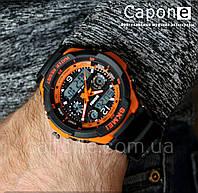 Фото! Skmei 0931 Orange / Оригинальные спортивные часы S-Shock