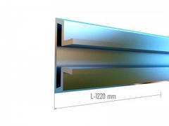 Вставка ( Вкладыш ) в Экономпанель усиленная  ( Экспопанель ) алюминевая. Длина L-1220mm