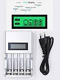 Зарядное устройство с ЖК-дисплеем для Ni-MH NI-CD AA AAA аккумуляторных батареек, фото 5