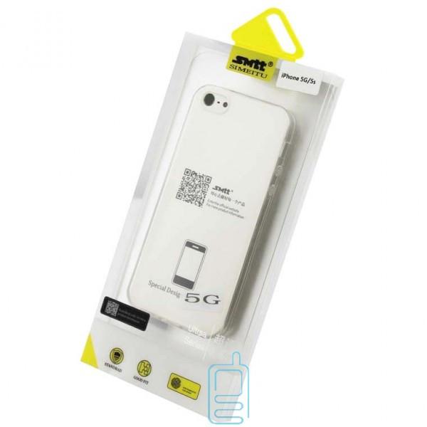 Чехол силиконовый SMTT Apple iPhone 5 прозрачный