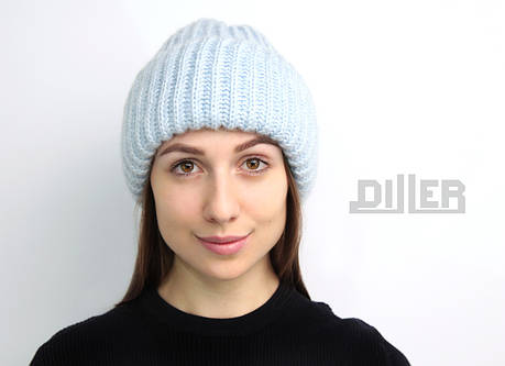 Шапка женская светло-голубая, фото 2