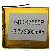 Аккумулятор GD 047585P 3000mAh Li-ion 3.7V