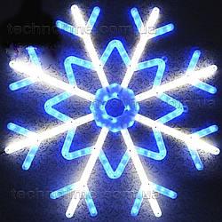 Светодиодная фигура «Снежинка» (50x50см, 140LED, IP54, уличная)