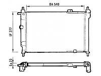 Радиатор охлаждения двигателя: Astra (VALEO)