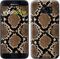 "Чехол на Samsung Galaxy S7 G930F Кожа змеи ""901c-106-6129"""