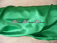 Ткань атлас, 100% полиэстер, 140 г/м, 93 г/м2, 150 см , цвет зеленый