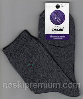 Шкарпетки підліткові х/б махрові всередині Смалій, 23 розмір, сірі, 40516
