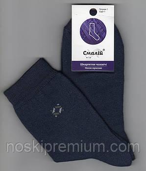 Шкарпетки підліткові х/б махрові всередині Смалій, 23 розмір, темно-сині, 40527