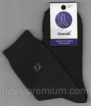 Шкарпетки підліткові х/б махрові всередині Смалій, 23 розмір, чорні, 40502