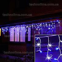 "Гирлянда светодиодная уличная ""Бахрома"" 3 х 0,6 м, 120 LED Premium Light (мерцание Flash) Синий с белым"