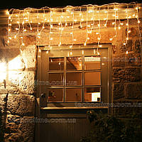 "Гирлянда светодиодная уличная ""Бахрома"" 3 х 0,6 м, 120 LED Premium Light (мерцание Flash) Теплый белый"
