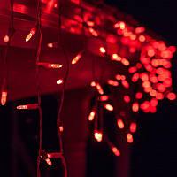 "Гирлянда светодиодная уличная ""Бахрома"" 3 х 0,6 м, 120 LED Premium Light (мерцание Flash) Красный"
