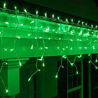 "Гирлянда светодиодная уличная ""Бахрома"" 3 х 0,6 м, 120 LED Premium Light (мерцание Flash) Зеленый"