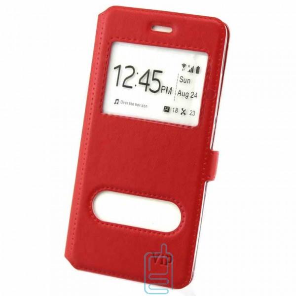 Чехол-книжка ViP 2 окна Samsung J5 Prime G570 красный