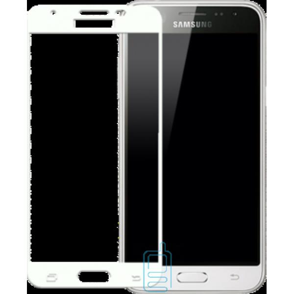 Защитное стекло Full Screen Samsung J3 2017 J330 white тех.пакет