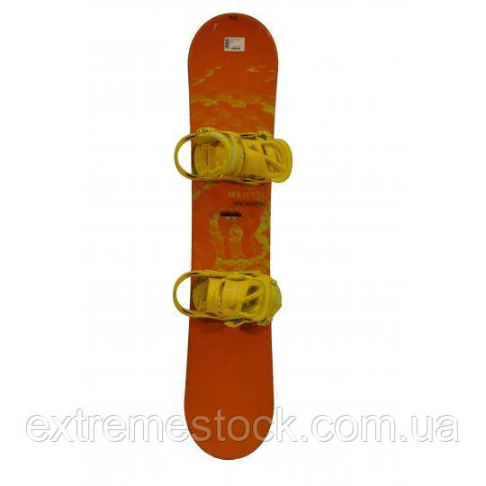 Сноуборд БУ Salomon 130 СМ оранжевый
