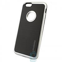 Чехол-накладка матовый Motomo iPhone 6 серебристый