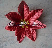 Головка Пуансетия сатиновая 10 см