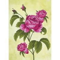 Ткань с рисунком для вышивки гладью Розы