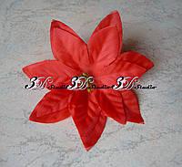 Головка Пуансетия красная 10 см