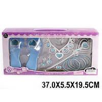 Аксессуары для девочек 8140B (1505349) (48шт/2) туфли,волш.палочка,корона,колье,серьги,в кор.37*6*20