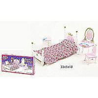 """Мебель """"Gloria"""" 2319 (36шт/3) для спальни, кровать, туалетный столик,…в кор.33,2*16,5*5см"""