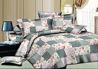 Двуспальный комплект постельного белья евро 200*220 хлопок  (8454) TM KRISPOL Украина
