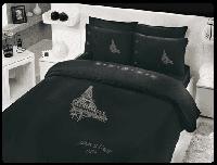 HOBBY BAMBOO Crystal Paris чорний 200*220/4*50*70 37302 евро КПБ