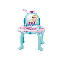 Детский туалетный столик 008-905  на батарейках, музыкальный, фен, зеркало, аксессуары в коробке