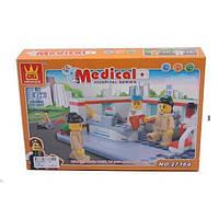 Конструктор WANGE 27164 Госпиталь 152 дет, кор. 27*18*5 см.