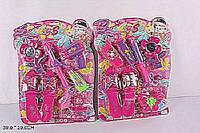 Аксессуары для девочек 6699B-1 (96шт/3) фен,туфли,космет,зеркало..планш 39*29см