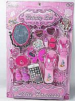 Аксессуары для девочек SF255655 (48шт/2) туфли,расч,помада,зерк,заколки,очки,телеф,ногти на планш.