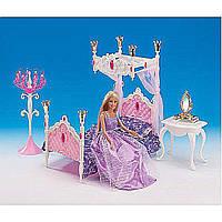 Мебель для куклы Gloria 1214  для спальни,  кровать,  столик,  зеркало в коробке 31*17.5*6 см.