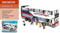 Конструктор автобус двухэтажный SLUBAN M38-B0335R  Городская серия  741 деталей в коробке 52*38*8cm