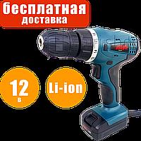 Аккумуляторный шуруповёрт, Li-ion, 12 В, 2 скорости, 10 мм, Eurotec CD 149, 2 аккумулятора