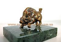 Статуэтка бронзовый Кабан, памятный сувенир