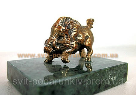 Статуэтка бронзовый Кабан, памятный сувенир, фото 2