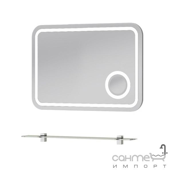Мебель для ванных комнат и зеркала Botticelli Зеркало с подсветкой и полкой Botticelli Rimini RmM-80